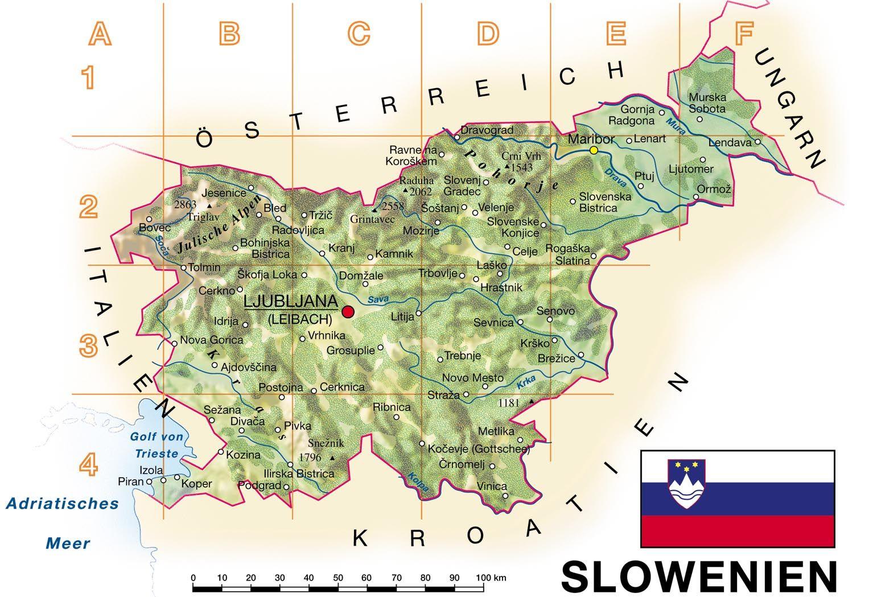 Slowenien Karte Im Slowenien Reisefuhrer Reisefuhrer Slowenien