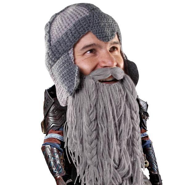 Beard Hat Beanie - Funny Dwarf Knit Beard Head 8500827c070