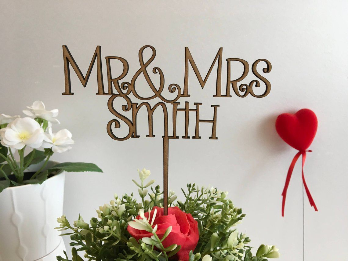 image 0 (With images) Wooden cake topper wedding