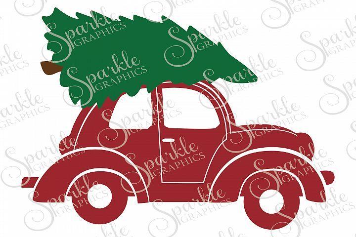 Christmas Trees Car File Set Svg Eps Dxf Png Christmas Tree Template Christmas Tree Truck Christmas Car