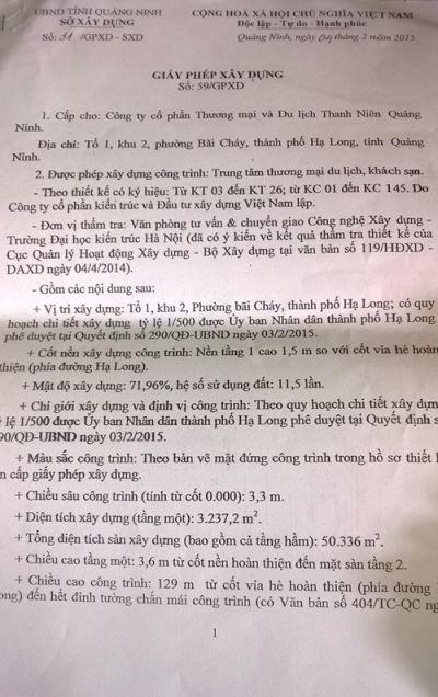 khách sạn Mường Thanh sai phạm khủng  Quảng Ninh chạy theo...hợp thức hóa.