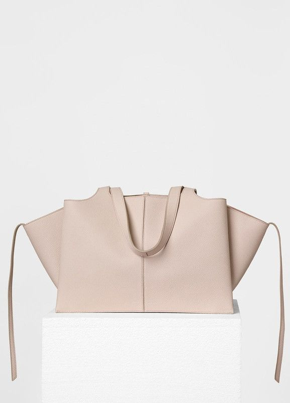 Small Tri-Fold Shoulder Bag in Baby Grained Calfskin - Céline ... a76af90136347