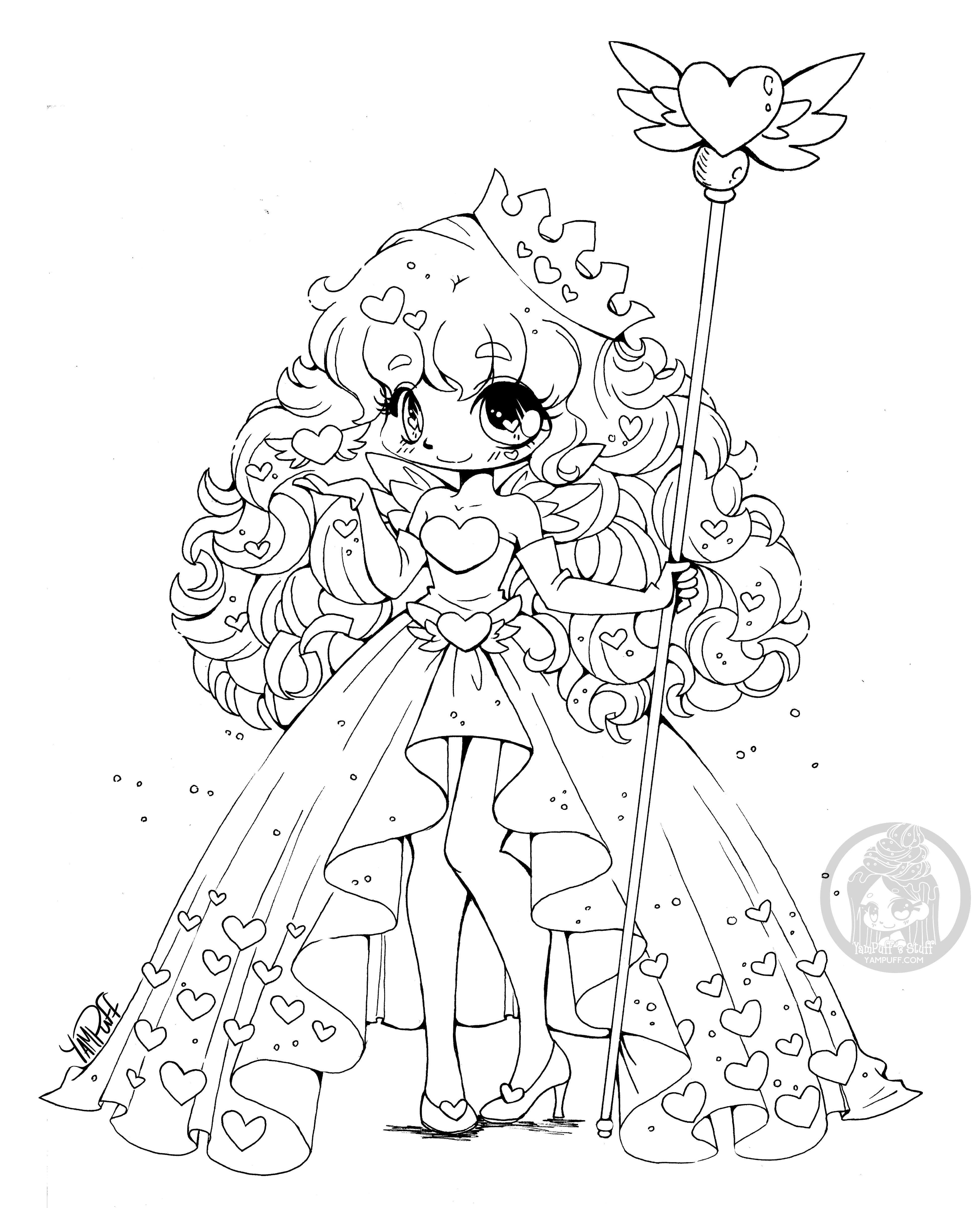 - Pin By Nannette On Adult Coloring Chibi Coloring Pages, Heart