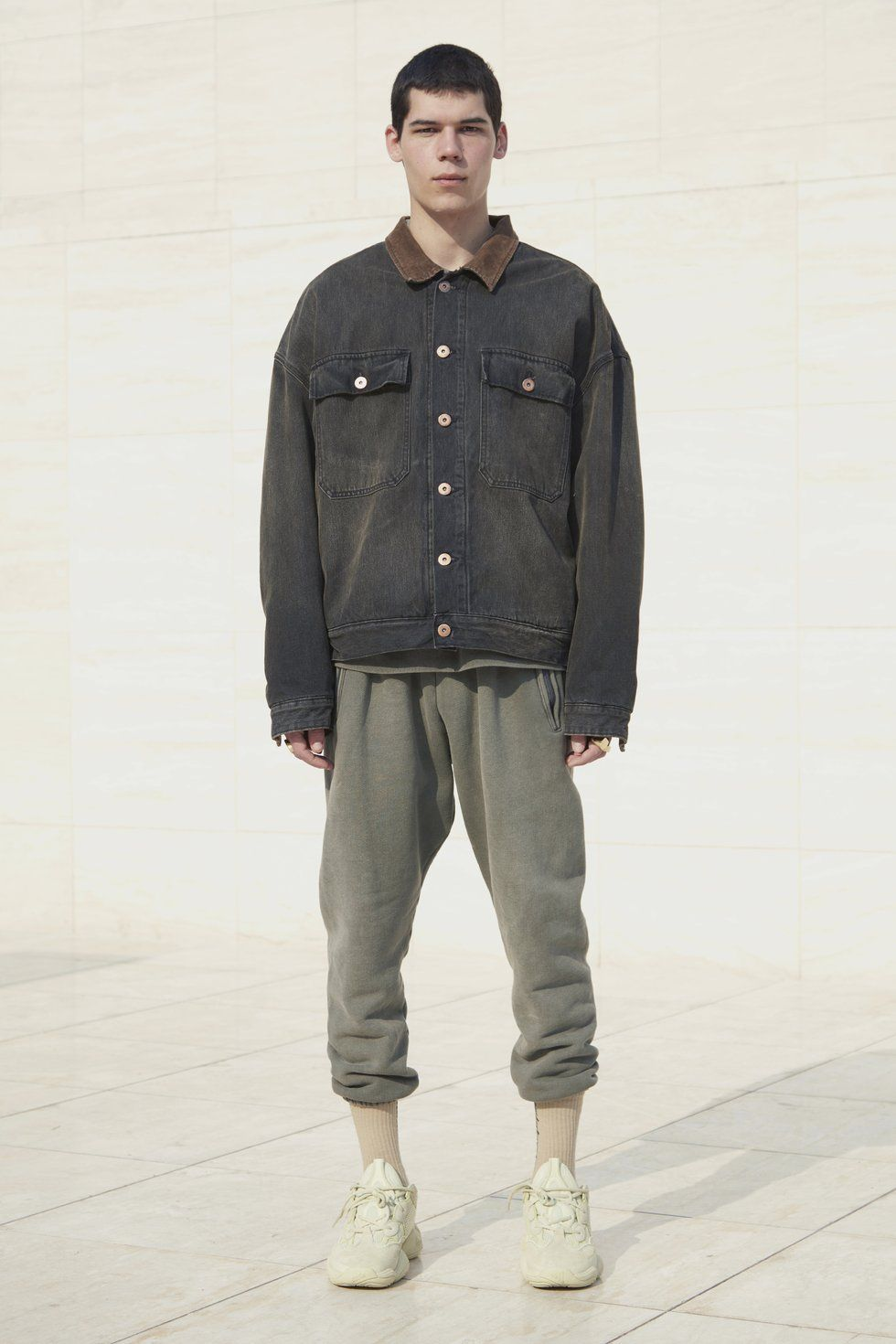 YEEZY Flannel Lined Canvas Jacket | Blå | Jeansjackor