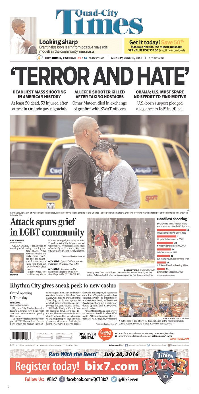 Quad-City Times   Today's Front Pages   Newseum