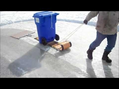 Homemade Zamboni In Action Pt 2 Backyard Ice Rink