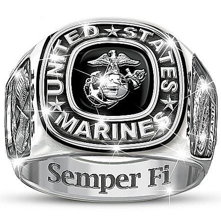 USMC Semper Fi Personalized Men's Ring Jewelry