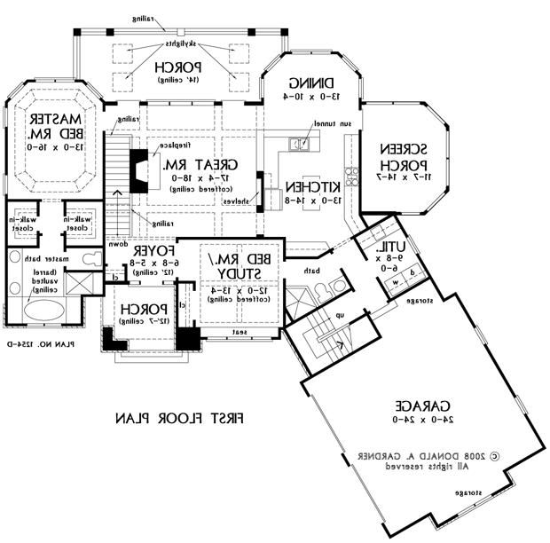 first floor plan of the silvergate house plan number