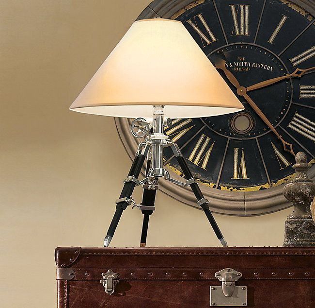 Rh S Royal Marine Tripod Table Lamp Inspired By A British Surveyor S