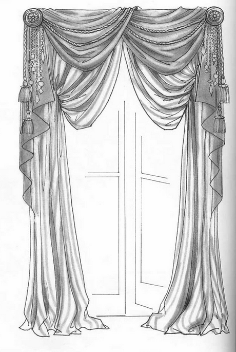 Great Different Designs Of Curtains Drawn By Pencil! A Great Inspirations To Draw  Your Sketches, Elevations, Perspectives.