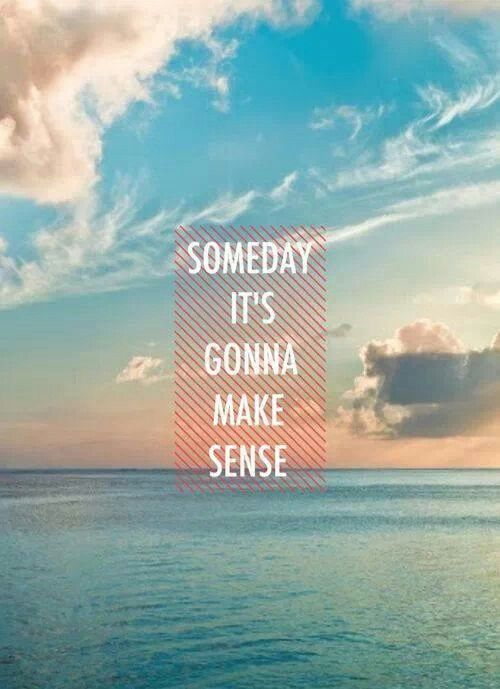 Somday but not now