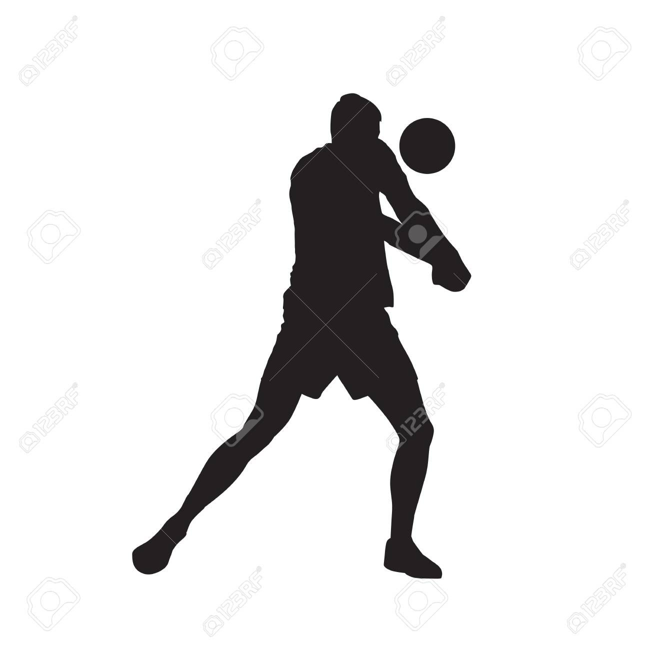 Volleyball Player Passing Ball Isolated Vector Silhouette Spon Passing Player Volleyball Ball Silh Volleyball Players Volleyball Business Design
