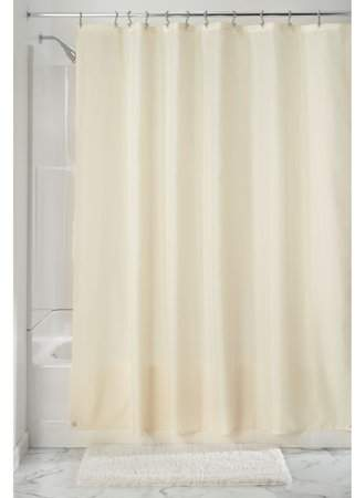 Home Fabric Shower Curtains Waterproof Fabric Plastic Curtains