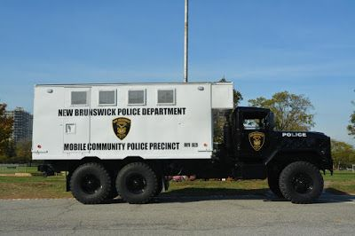 NEW BRUNSWICK POLICE ADD RETROFITTED MILITARY VEHICLE TO ARSENAL-WILL BE DEPLOYED AT RUTGERS GAMES