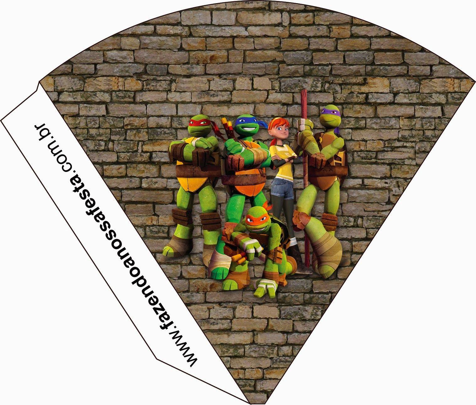 Tortugas Ninja: Invitaciones e Imprimibles para Imprimir Gratis ...