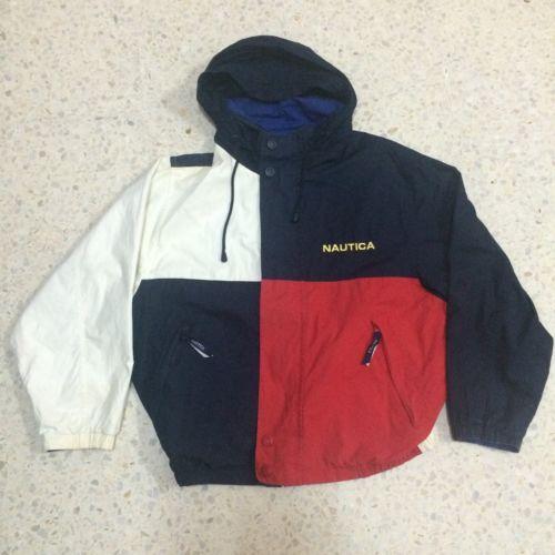 zapatillas de deporte para barato Precio 50% información para Vtg Nautica Jacket Spell Out Good Condition Size L Polo Sport ...