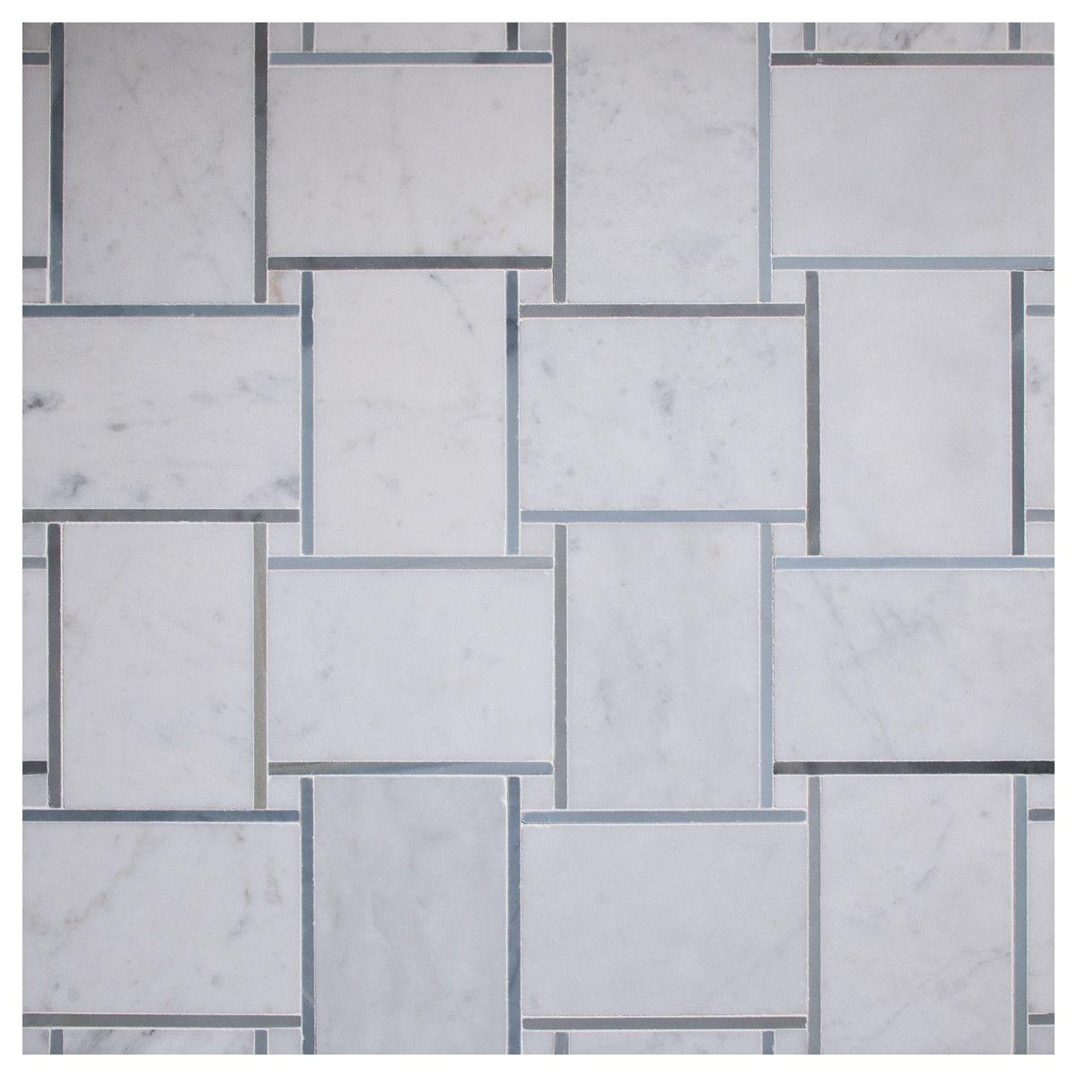 three color tile pattern | Tile Patterns, Large Basketweave Mosaic ...