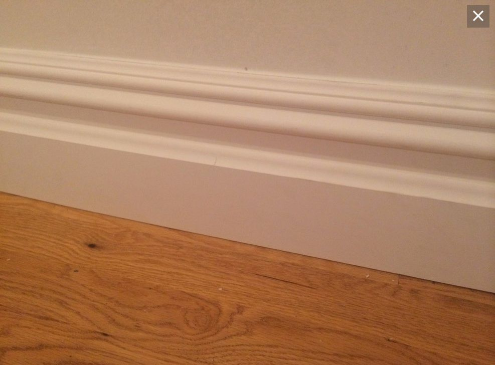 Baseboard Without Quarter Round Molding At The Bottom Source Has Picture Of How It Looks With Quarter Round As We Baseboard Styles Baseboard Trim Baseboards