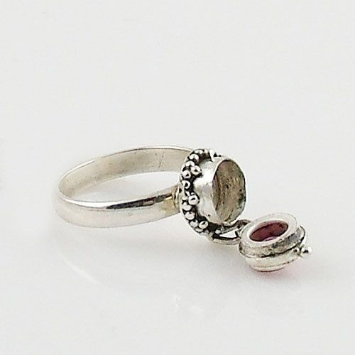 Ruby Sterling Silver Poison Ring – Keja Designs Jewelry