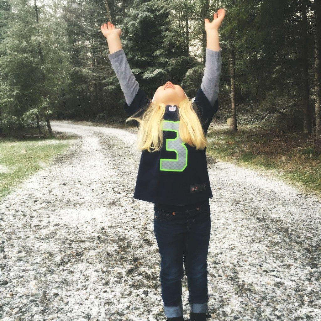 Seahawks + Snow + Glitter OBSESSED BY PORTIA Portia