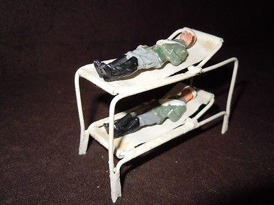 Lineol Elastolin Doppelstockbahre mit Verwundeten Soldaten auch für Krankenauto?