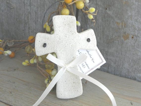 Cross Baptism Favor / Christening by cookiedoughcreations on Etsy