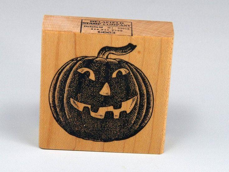 Rubber Stamp, Jack O Lantern, Halloween, Deerfield, Pumpkin, Stamping, DIY, Do It Yourself, C... Rubber Stamp, Jack O Lantern, Halloween, Deerfield, Pumpkin, Stamping, DIY, Do It Yourself, Card Making, Wrapping Paper, Kid's Craft, G663,