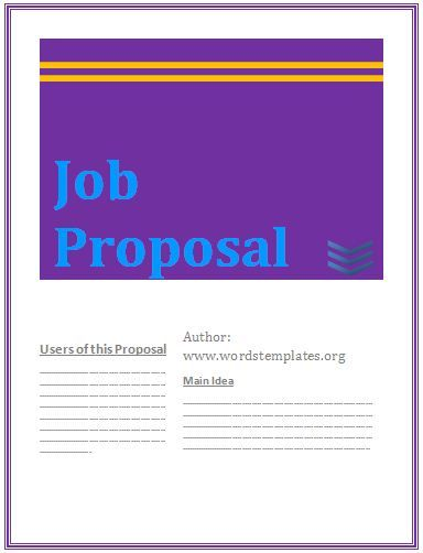 Job proposal template Stuff to Buy Pinterest - job proposal template free