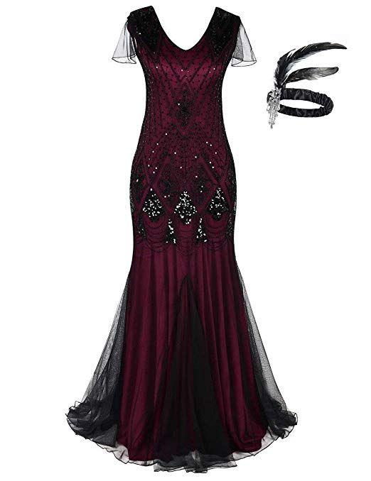 1920er Jahre Gatsby Flapper Kleid - tolles Abendkleid im ...