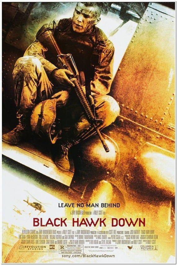 BLACK HAWK DOWN 2001 original 27x40 Movie Poster Style B