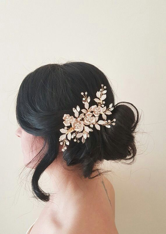 Black crystals hair comb wedding hair accessories bridesmaids hair piece prom hair comb mother of the bride hair accessory hair jewellery
