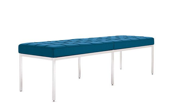 Florence Knoll Three Seater Bench In Leather Florence Knoll