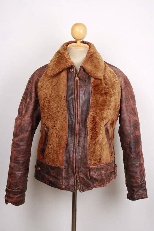 vintage grizzly jacket lederjacke und jacken  damen jacken pelz shearling jacken c 1_11 #3
