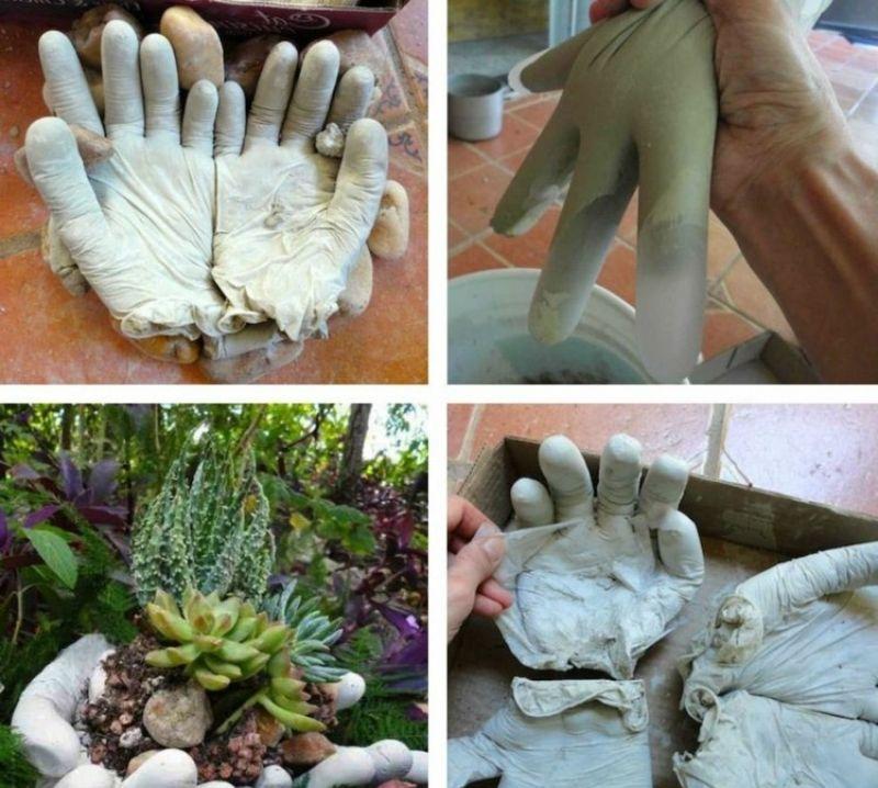 gartendeko aus beton basteln,gartendeko aus beton selber machen, Garten Ideen