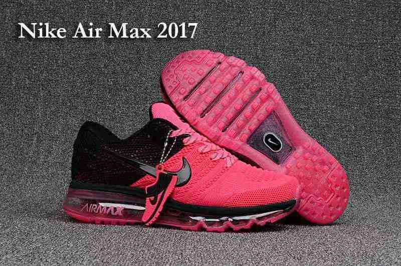 Women running shoes  Free Shipping Nike Air Max 2017 3 Women Pink Black