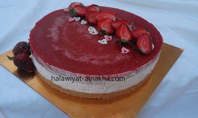 تشيز كيك بالفريز الفراولة Desserts Food Cake