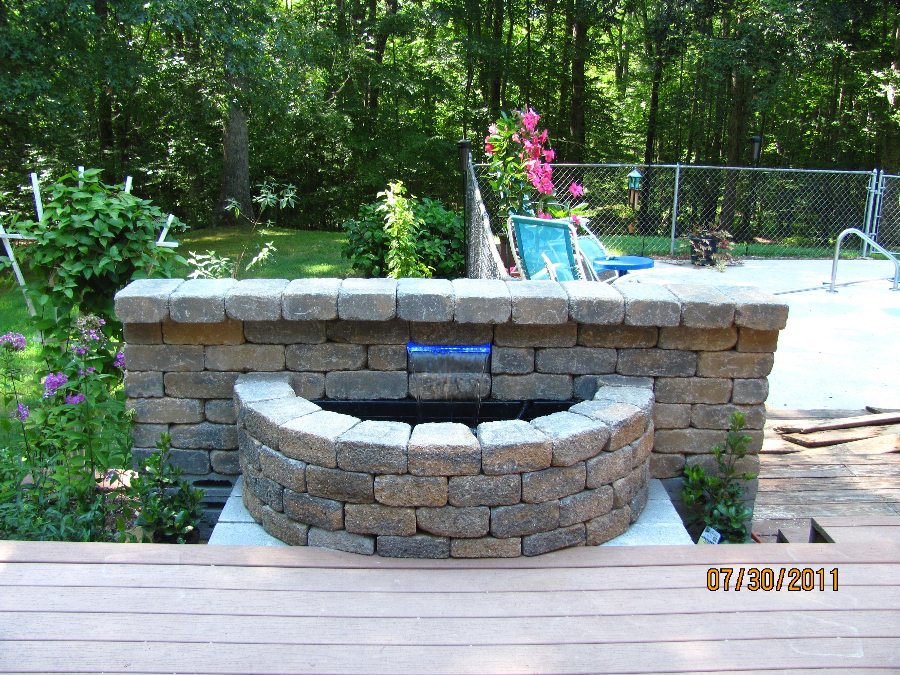 Garden fire features  every garden needs a water feature  My Garden  Pinterest  Water
