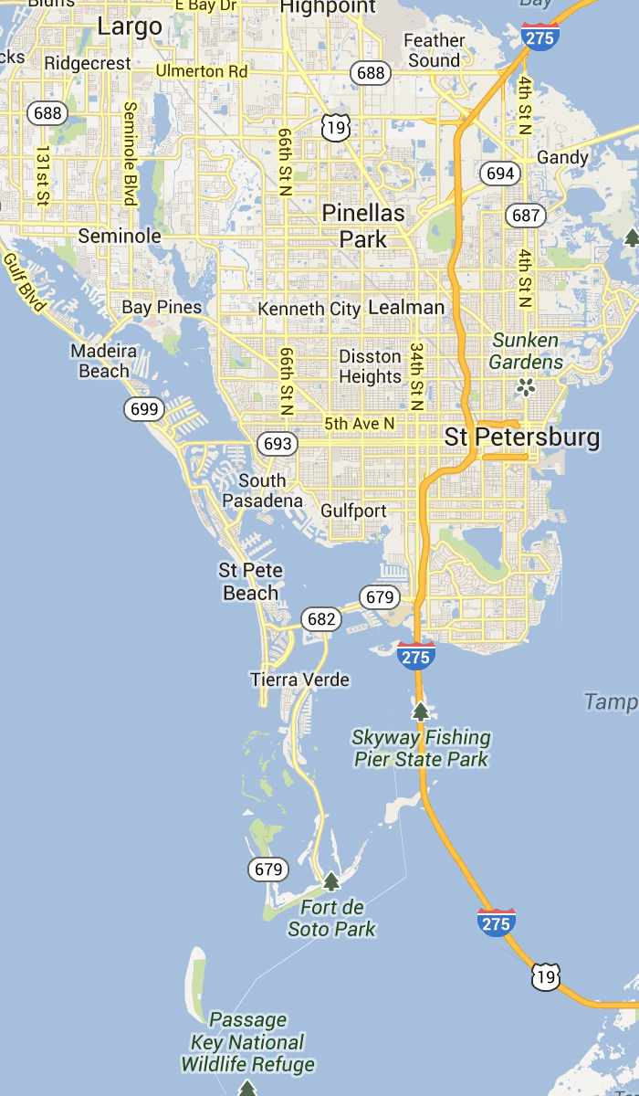St Pete Beach Florida Map St. Pete Beach and Pass a Grille Florida | St Petersburg
