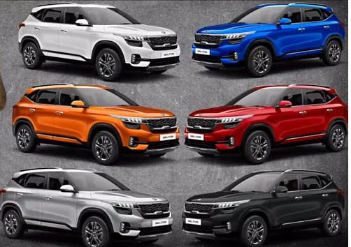 Kia Seltos Color Variants In 2020 Kia Kia Motors Compact Cars