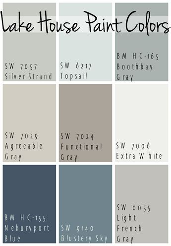 Lake house paint colors exterior house ideas pinterest for Beach house gray paint colors