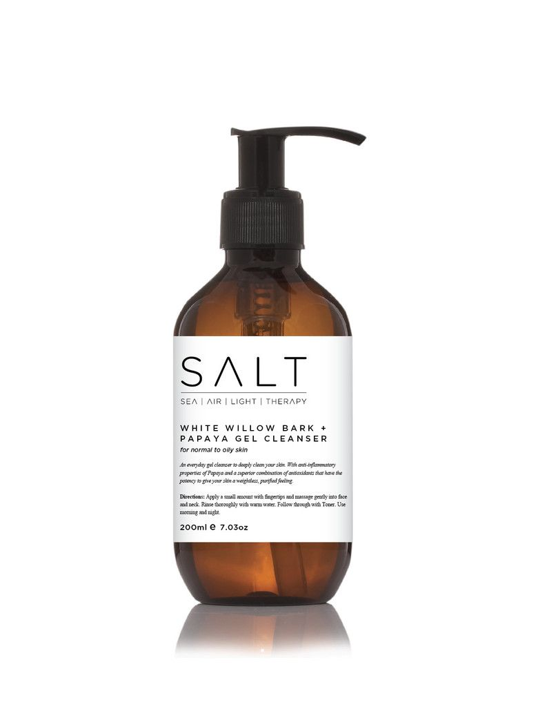 White Willow Bark   Papaya Gel Cleanser 200ml  www.the-saltstore.com   Use the code PIN10 at the check out to take 10% off your next purchase!