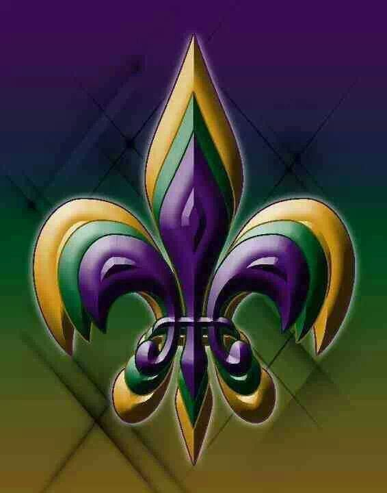 Lsu Colors Fleur De Lis Louisiana Art Mardi Gras Mardi Gras Decorations