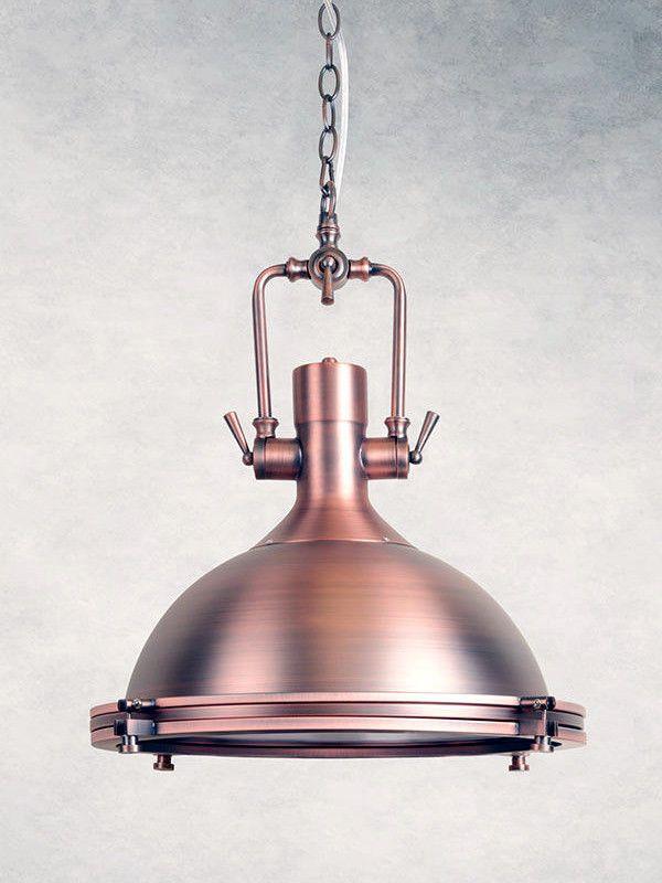 Modern Industrial Ceiling Chandelier Nautical COPPER Pendant Light ...