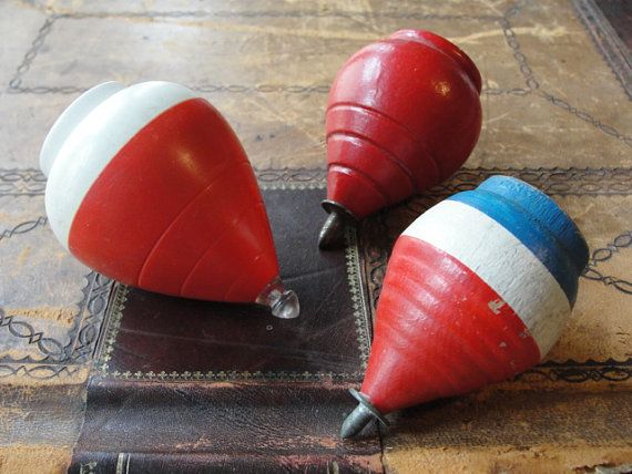 Instant Collection Spinning Tops Wooden Toys by VintagePicks, $15.00