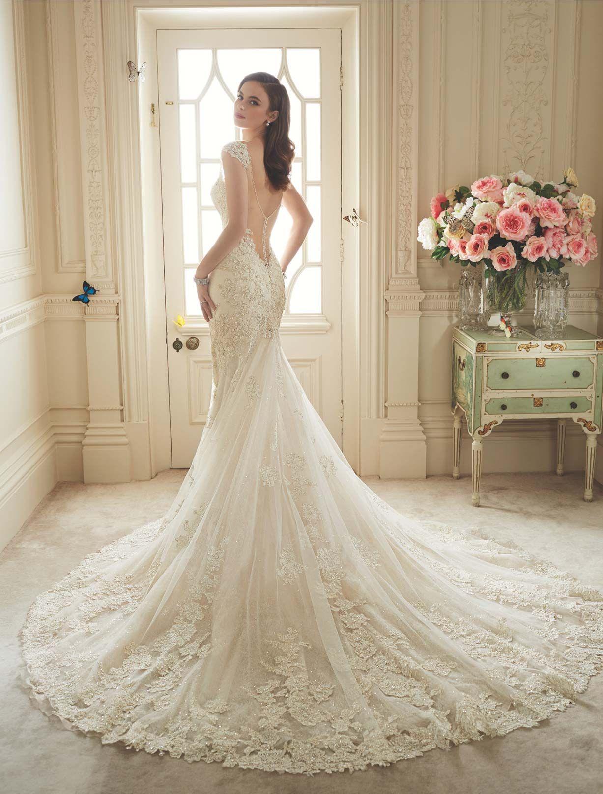 Back detail wedding dress  Sophia Tolli Sultana back view  Váy cưới  Pinterest  Wedding
