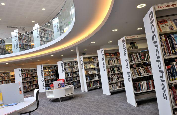 Love This Signage Demco Interiors Inspiring Library Design