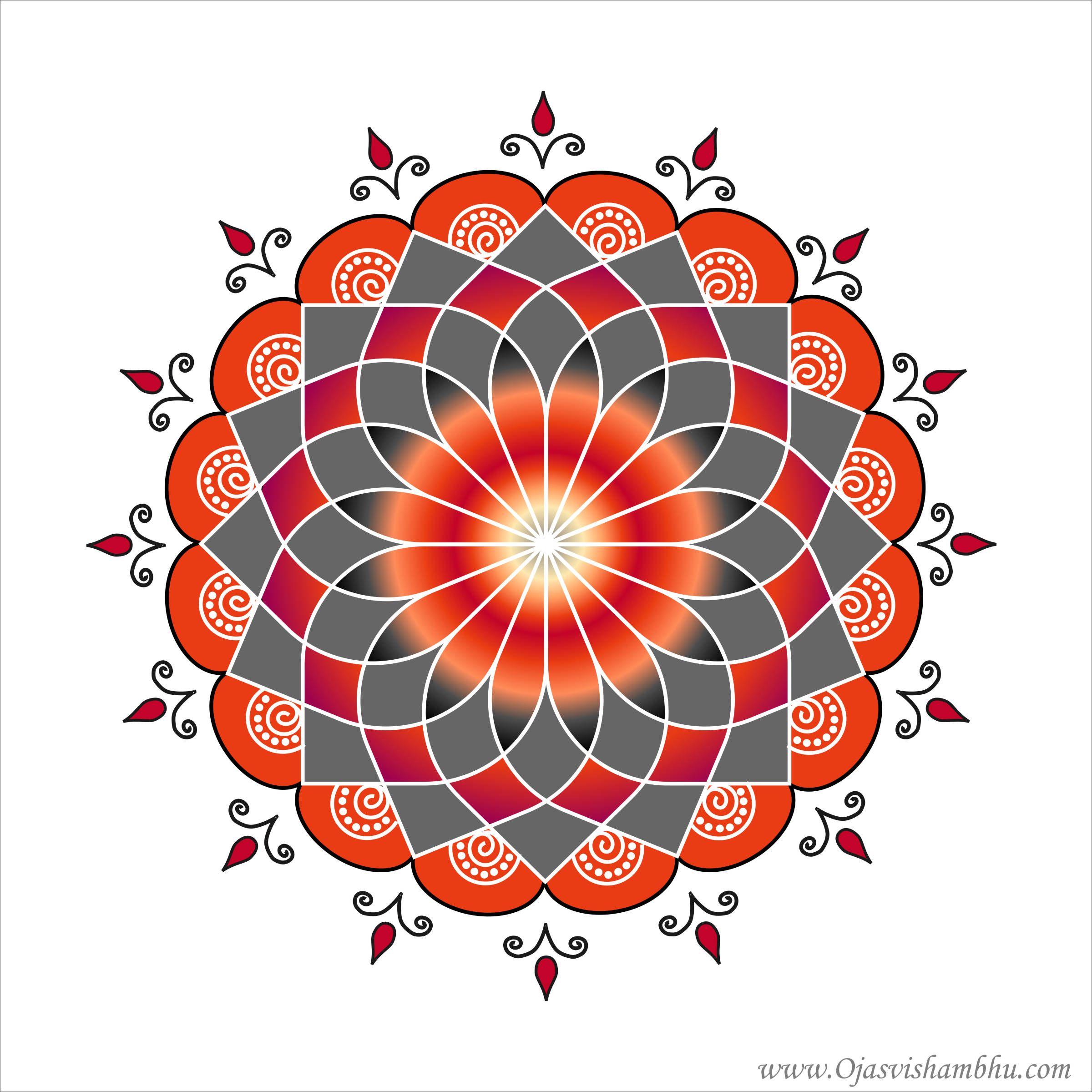 OjasviShambhu_16PetalLotus11.jpg (2400×2400) Art