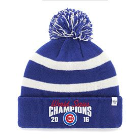 Chicago Cubs 2016 World Series Champions Breakaway Knit Hat with Pom ... 2421b5dc187