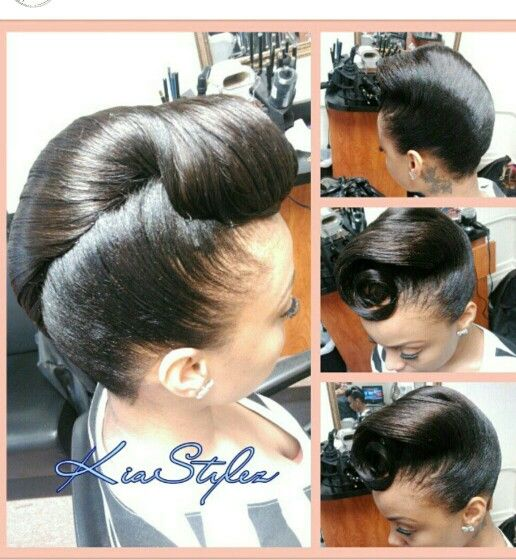 Wedding Hairstyle Roll: Natural Hair Updo, Black Hair Updo