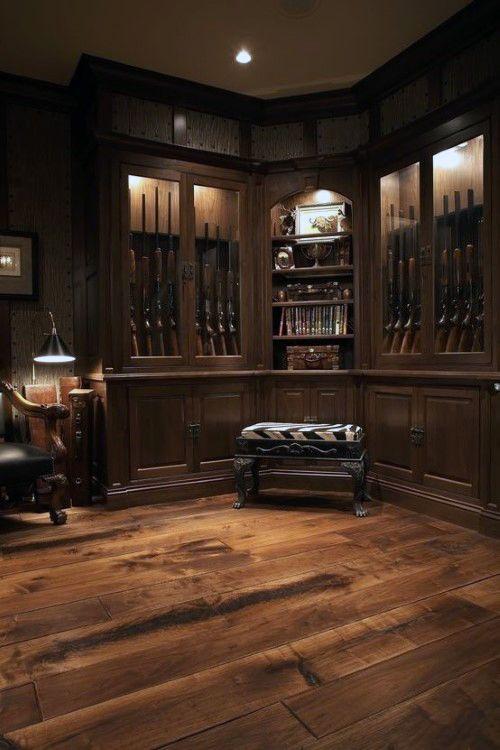 Luxury Basement Gun Room
